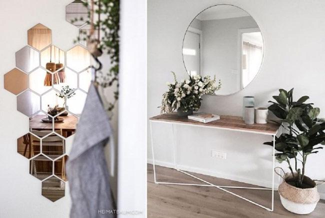 Gương không chỉ giúp bạn chỉnh trang diện mạo, nó còn là một cách tuyệt vời để mở rộng không gian, khiến cho căn nhà trở nên rộng rãi hơn.