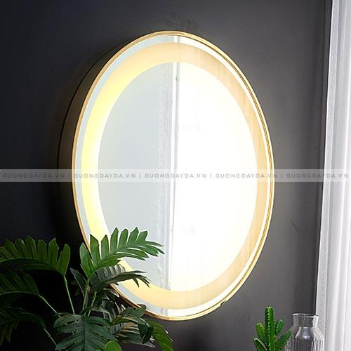 Gương tròn Inox - Đèn led Makeup