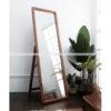 Gương khung gỗ chữ nhật - có chân