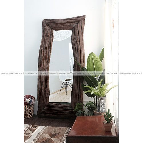Khung gương gỗ mộc
