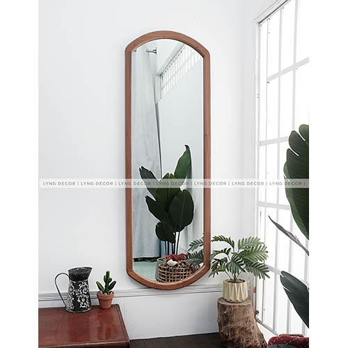 Gương khung gỗ mộc