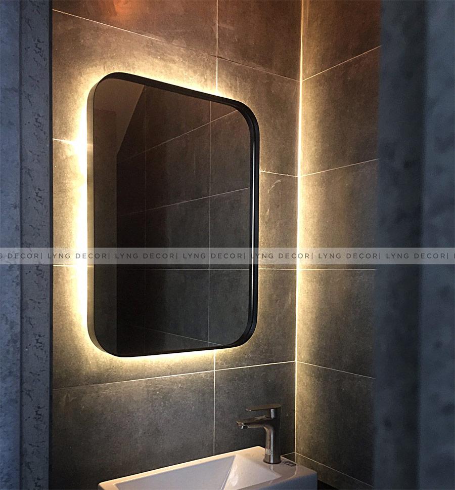 Gương hình chữ nhật - đèn hắt