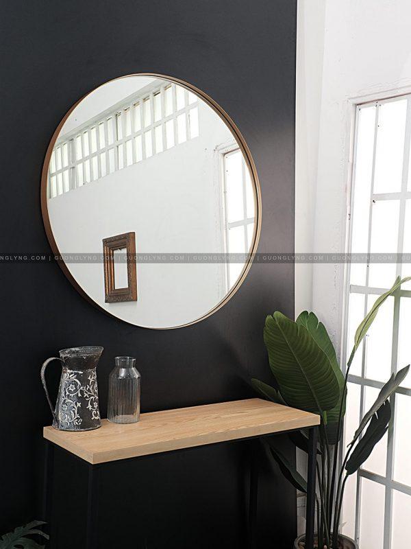 Gương tròn cho toilet/bàn phấn