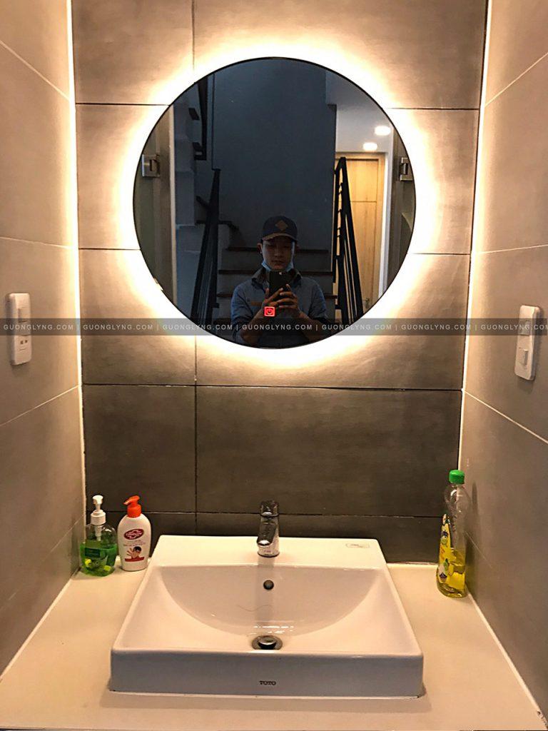 Gương tròn cho toilet/ Bàn phấn đèn hắc