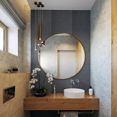 Chọn đúng gương nhà toilet giúp cải thiện năng lượng phòng tắm